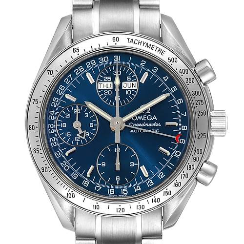 Photo of Omega Speedmaster Day-Date Blue Dial Steel Mens Watch 3523.80.00 Card