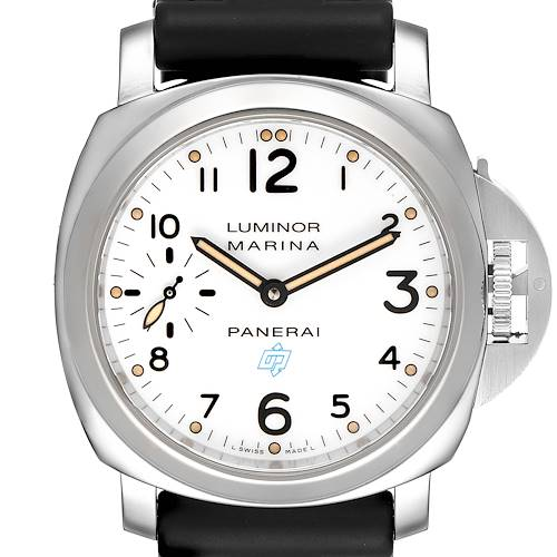 Photo of Panerai Luminor Marina 44mm White Dial Steel Mens Watch PAM00660