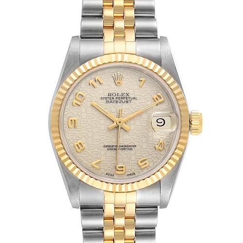 Photo of Rolex Datejust Midsize 31 Steel Yellow Gold Ladies Watch 68273