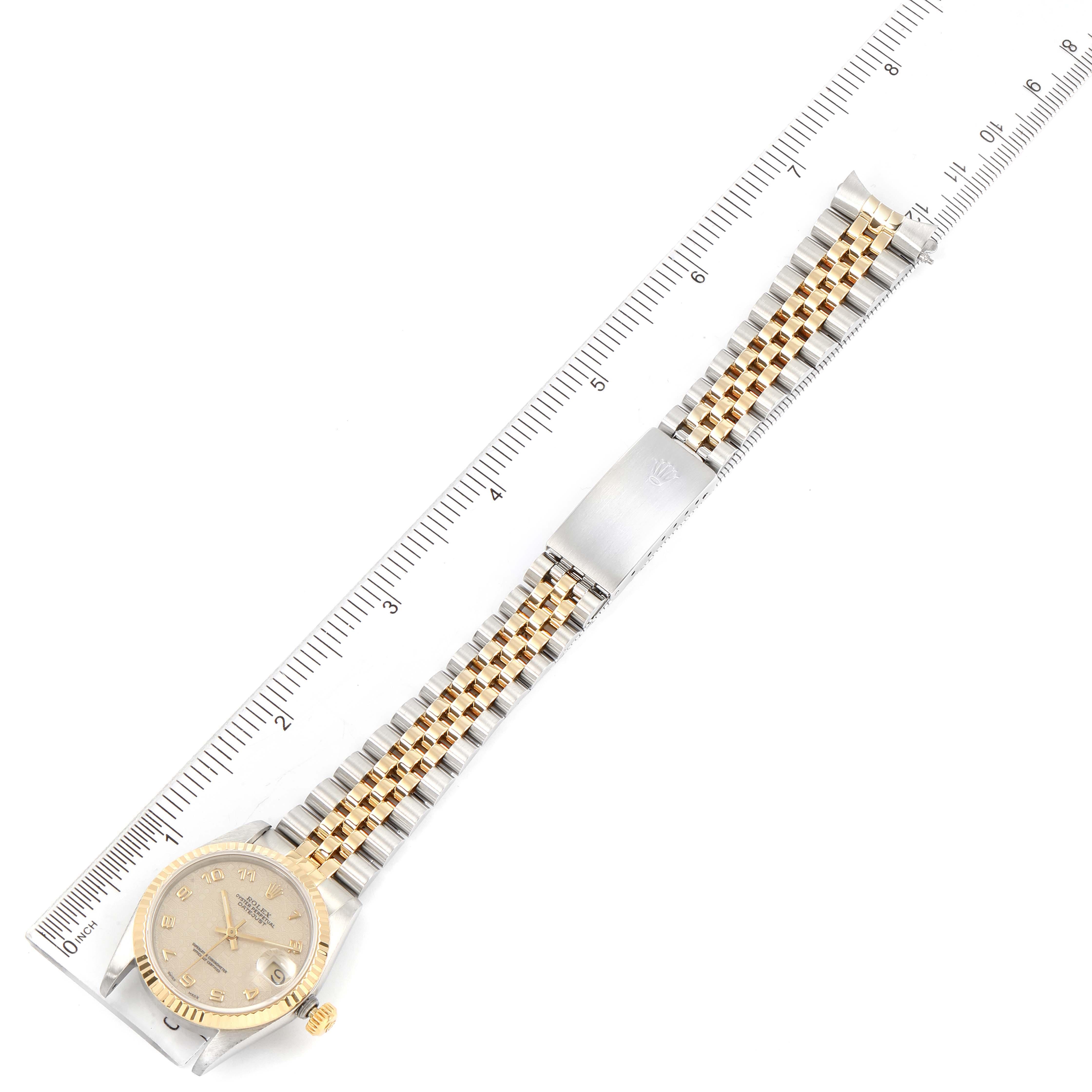 Rolex Datejust Midsize 31 Steel Yellow Gold Ladies Watch 68273 SwissWatchExpo