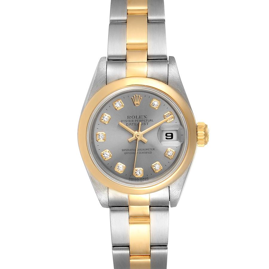 Rolex Datejust Steel Yellow Gold Diamond Ladies Watch 69163 SwissWatchExpo