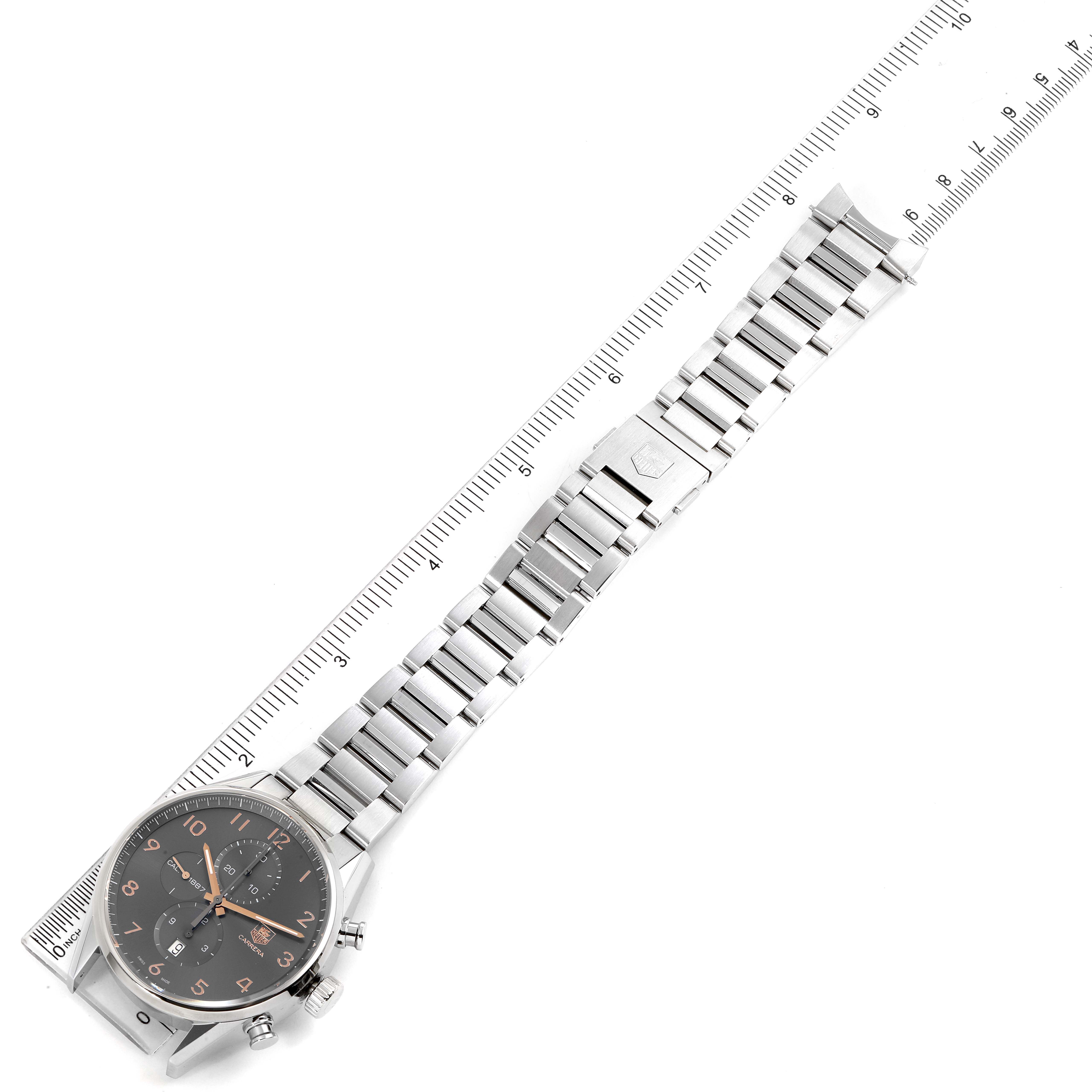 Tag Heuer Carrera 1887 Grey Dial Chronograph Mens Watch CAR2013 SwissWatchExpo