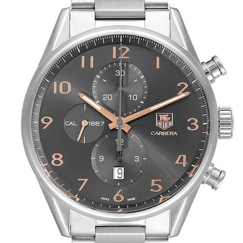 Photo of Tag Heuer Carrera 1887 Grey Dial Chronograph Mens Watch CAR2013