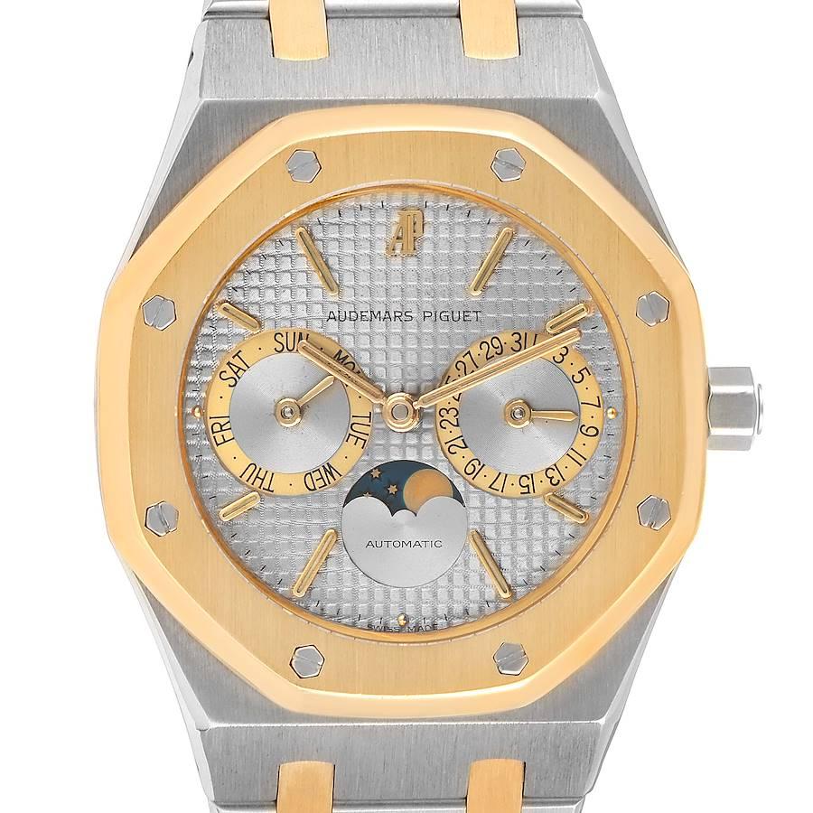 Audemars Piguet Royal Oak Steel Yellow Gold Moonphase Mens Watch 25594 SwissWatchExpo