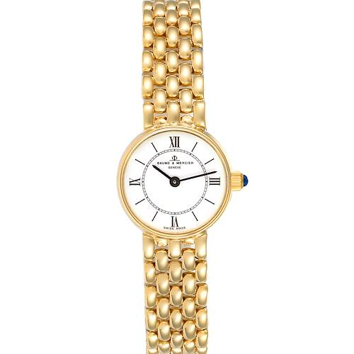 Photo of Baumer Mercier 14k Yellow Gold White Dial Cocktail Ladies Watch
