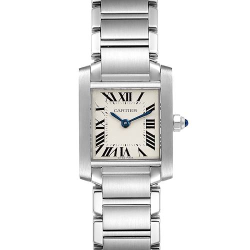 Photo of Cartier Tank Francaise Blue Hands Ladies Watch W51008Q3 Box Papers