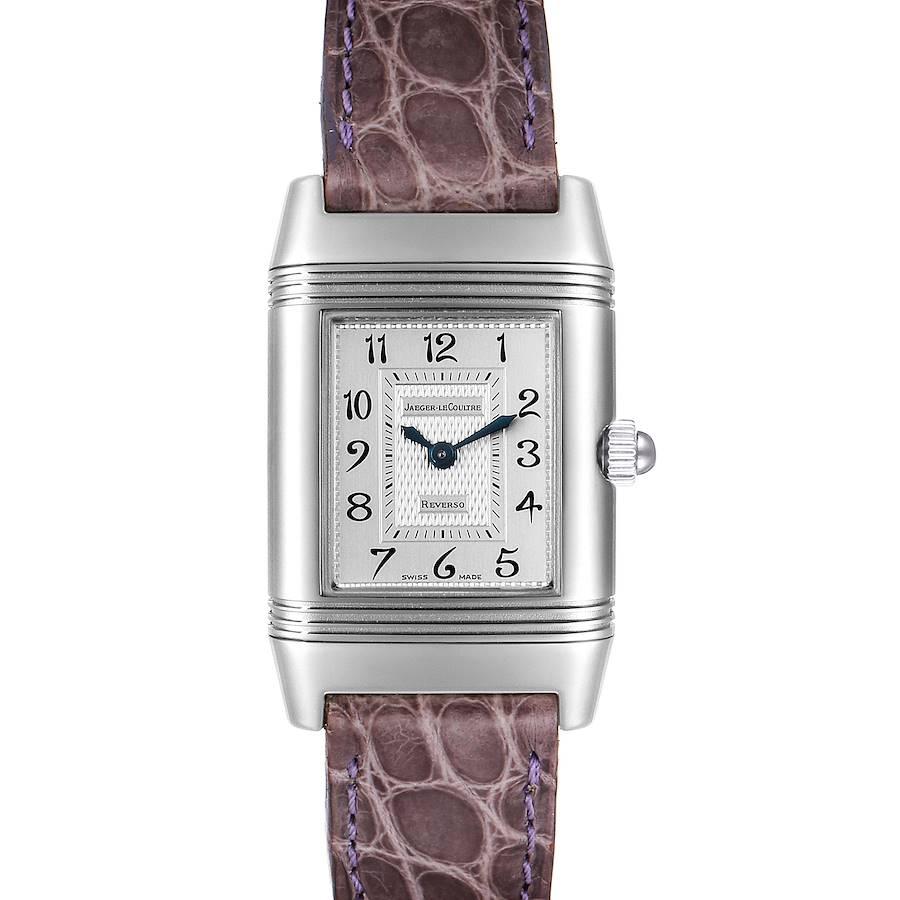 Jaeger LeCoultre Reverso Duetto Ladies Steel Diamond Watch 266.8.44 SwissWatchExpo