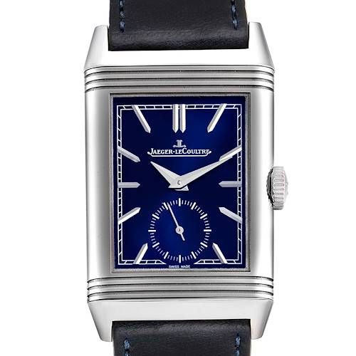 Photo of Jaeger LeCoultre Reverso Tribute Mens Watch 214.8.62 Q3978480 Box Card