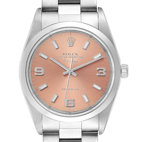 Photo of Rolex Air King 34 Salmon Dial Domed Bezel Steel Unisex Watch 14000