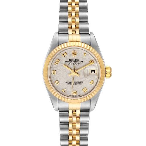 Photo of Rolex Datejust Steel Yellow Gold Anniversary Dial Watch 79173 Box Papers