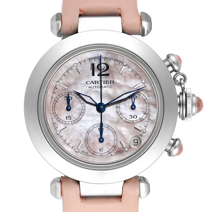 Cartier Pasha C Christmas Limited Edition MOP Steel Ladies Watch W3106599 SwissWatchExpo