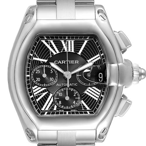 Photo of Cartier Roadster XL Chronograph Black Dial Mens Watch W62020X6