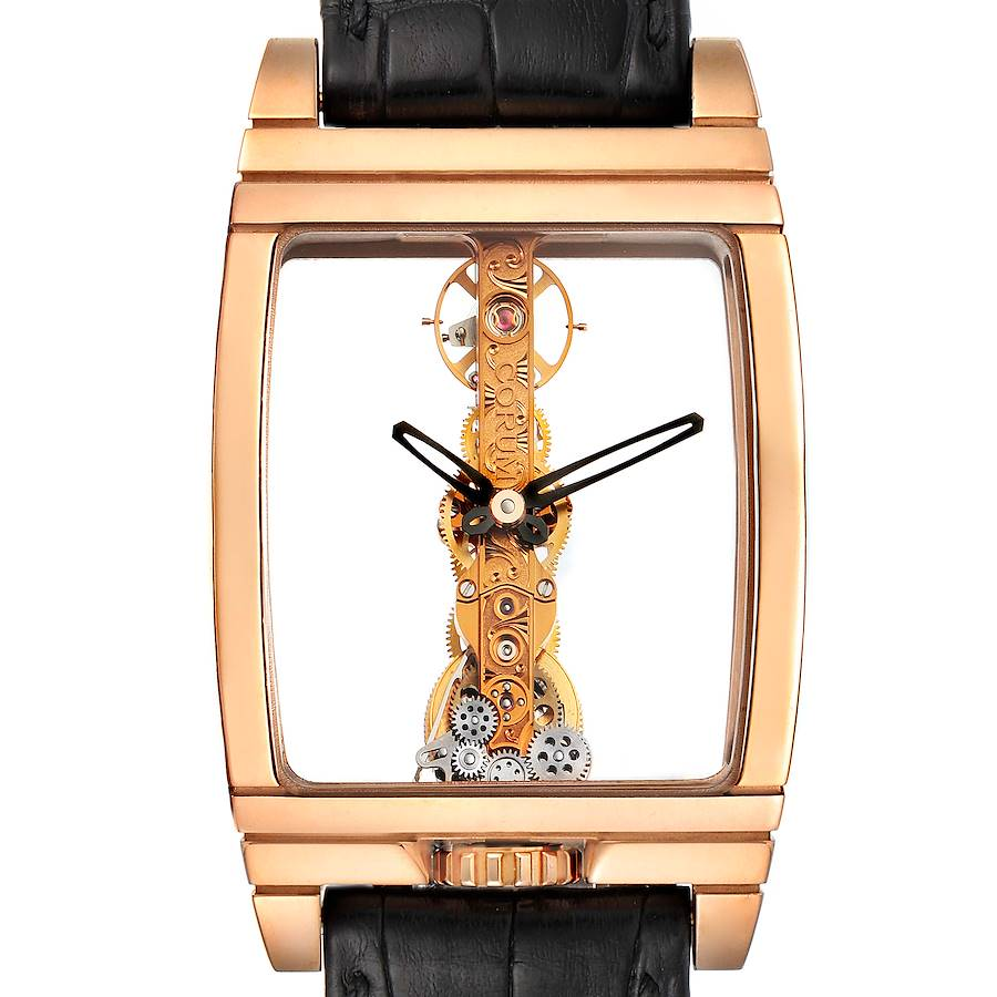 Corum Golden Bridge Classic Rose Gold Skeleton Mens Watch B113/01043 SwissWatchExpo
