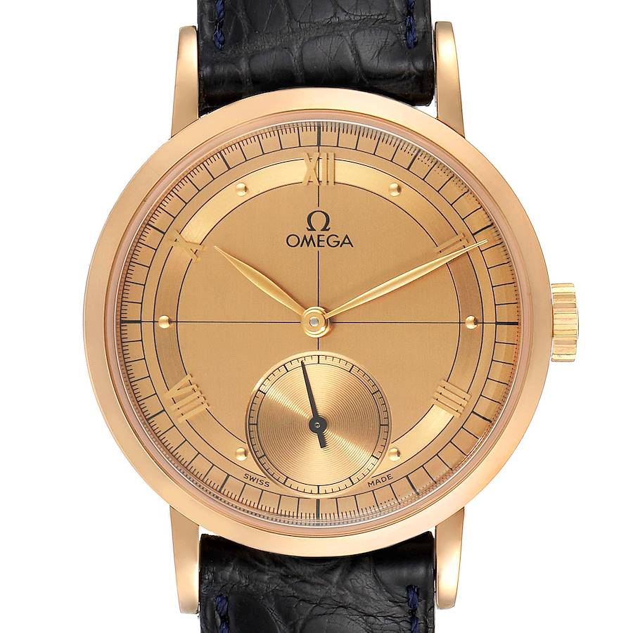 Omega Renaissance 1894 18k Rose Gold Limited Edition Mens Watch 5950.30.03 SwissWatchExpo