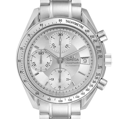 Photo of Omega Speedmaster Date Silver Dial Automatic Mens Watch 3513.30.00 Card