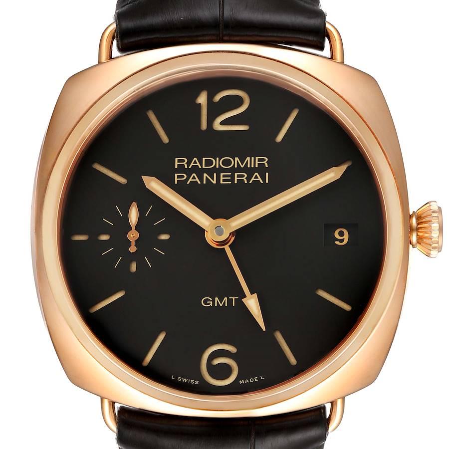 Panerai Radiomir 3 Days 1940 GMT 18k Rose Gold Mens Watch PAM00421 SwissWatchExpo