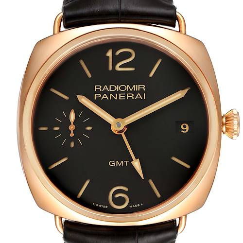 Photo of Panerai Radiomir 3 Days 1940 GMT 18k Rose Gold Mens Watch PAM00421
