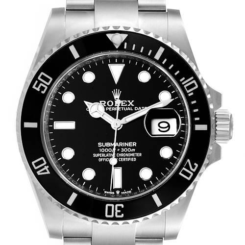 Photo of Rolex Submariner Cerachrom Bezel Oystersteel Mens Watch 126610 Box Card