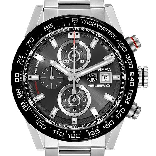 Photo of Tag Heuer Carrera Chronograph Automatic Mens Watch CAR201W Box Papers