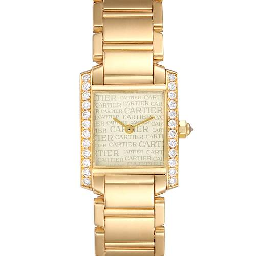 Photo of Cartier Tank Francaise Yellow Gold Diamond Ladies Watch WE1023R8