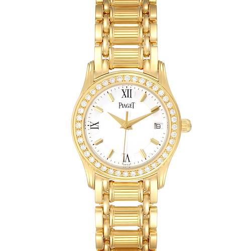 Photo of Piaget Polo 18k Yellow Gold White Roman Dial Diamond Ladies Watch 22005