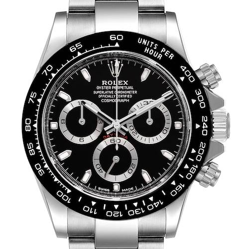 Rolex Cosmograph Daytona Ceramic Bezel Black Dial Mens Watch 116500 Unworn
