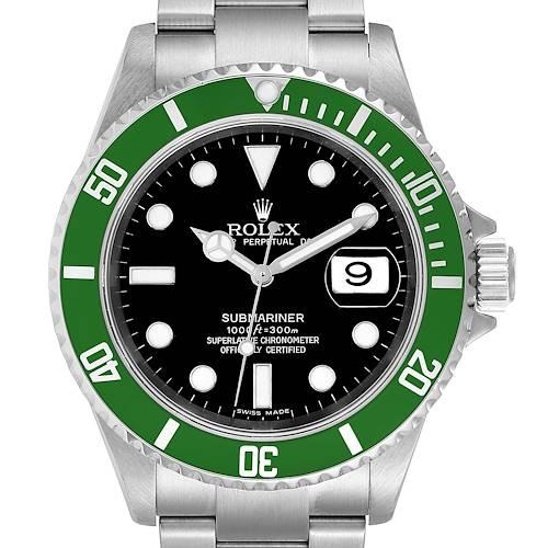 Photo of Rolex Submariner Green 50th Anniversary Mens Watch 16610LV