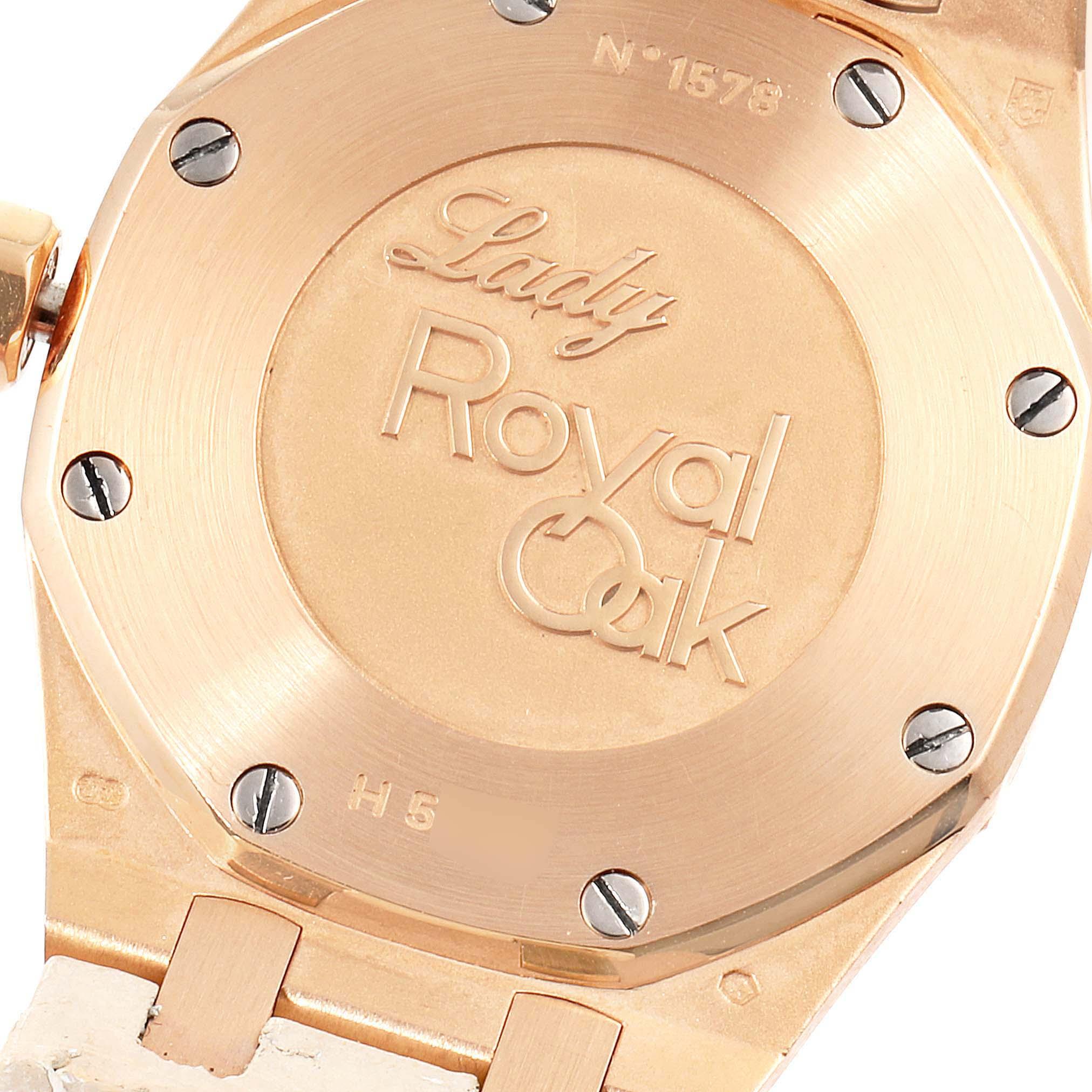Audemars Piguet Royal Oak 33mm Rose Gold Diamond Ladies Watch 67621OR SwissWatchExpo