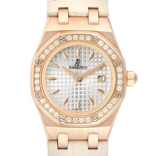 Photo of Audemars Piguet Royal Oak 33mm Rose Gold Diamond Ladies Watch 67621OR
