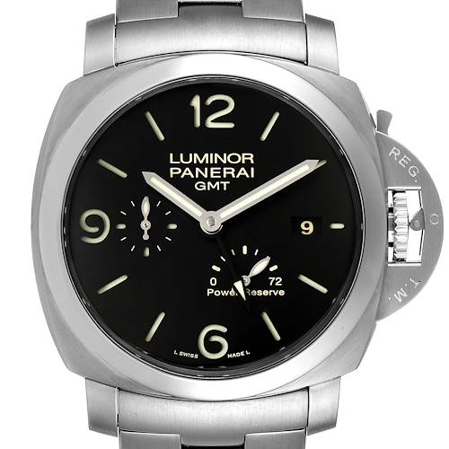 Photo of Panerai Luminor 1950 3 Days GMT 44mm Watch PAM00347 Box Papers