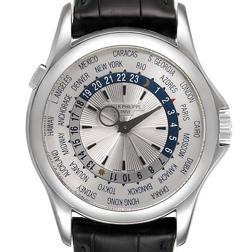 Photo of Patek Philippe World Time Complications White Gold Watch 5130 Box Papers