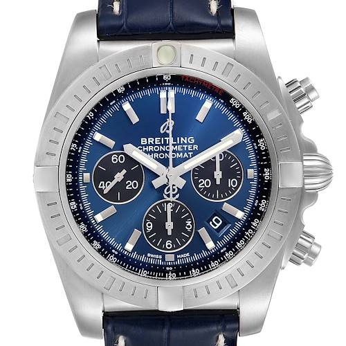 Photo of Breitling Chronomat 44 Airbourne Blue Dial Steel Mens Watch AB0115 Unworn