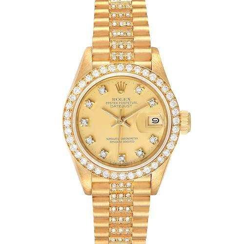 Photo of Rolex President Datejust Yellow Gold Diamond Ladies Watch 69138