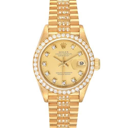 Photo of Rolex President Datejust Yellow Gold Diamond Ladies Watch 69138