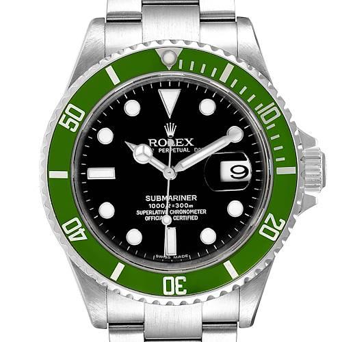 Photo of Rolex Submariner Green 50th Anniversary Mens Watch 16610LV Box Card
