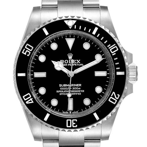 Photo of Rolex Submariner Non-Date Ceramic Bezel Steel Watch 124060 Box Card