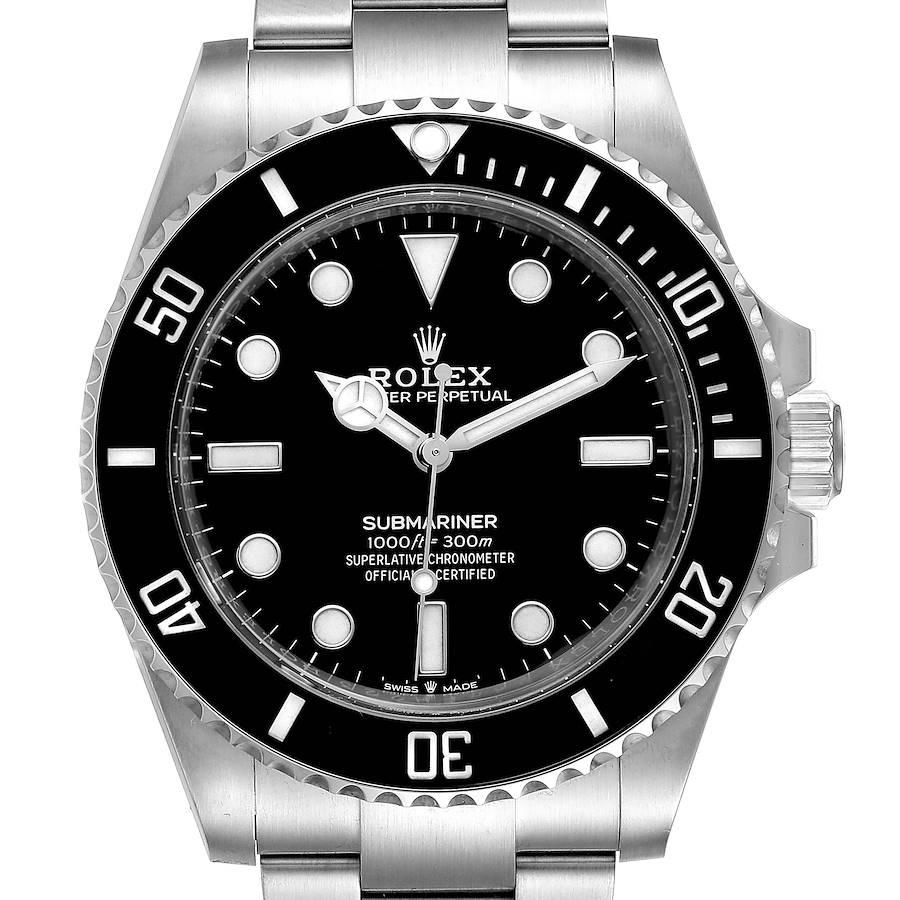 Rolex Submariner Non-Date Ceramic Bezel Steel Watch 124060 Box Card SwissWatchExpo