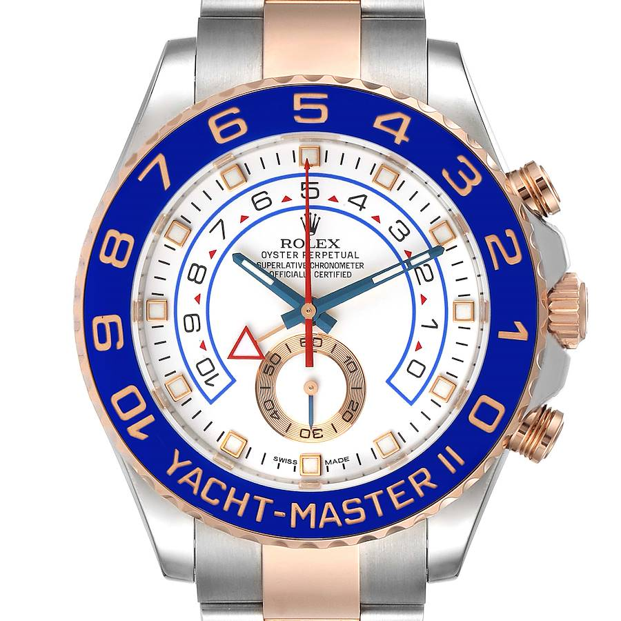 Rolex Yachtmaster II Rolesor EveRose Gold Steel Mens Watch 116681 SwissWatchExpo