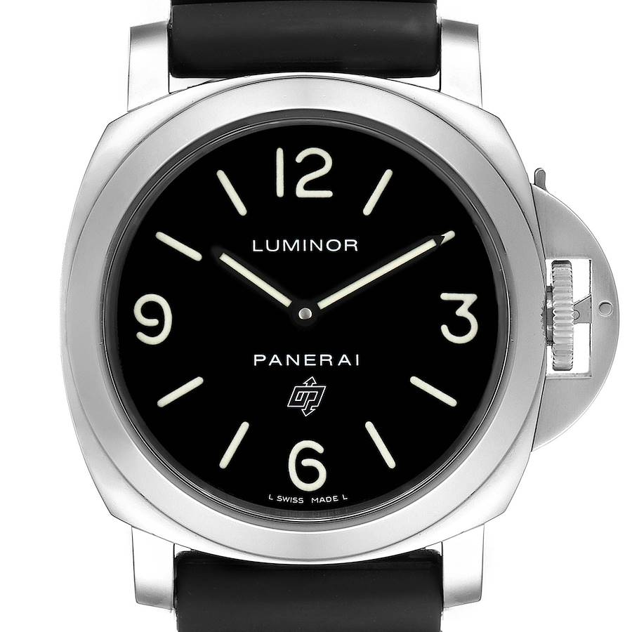 Panerai Luminor Base Logo 44mm Steel Mens Watch PAM00000 Box Card SwissWatchExpo