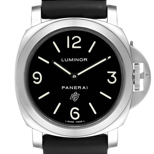 Photo of Panerai Luminor Base Logo 44mm Steel Mens Watch PAM00000 Box Card