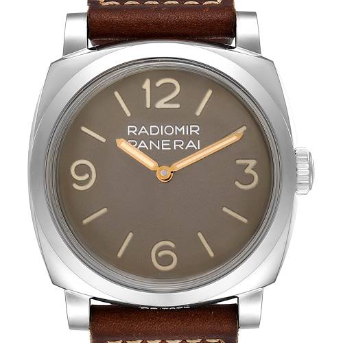 Photo of Panerai Radiomir 1940 47mm Brown Dial Steel Mens Watch PAM00662 Unworn