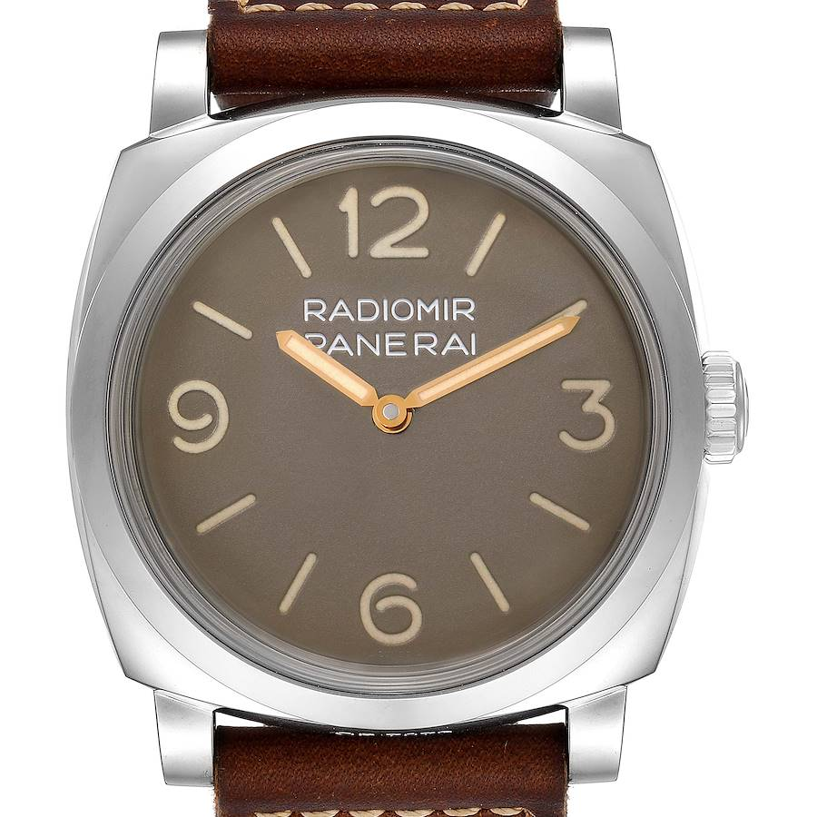 Panerai Radiomir 1940 47mm Brown Dial Steel Mens Watch PAM00662 Unworn SwissWatchExpo