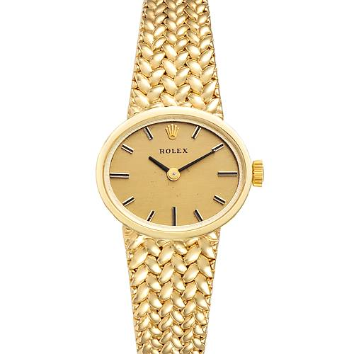 Photo of Rolex 18k Yellow Gold Champagne Dial Cocktail Ladies Watch