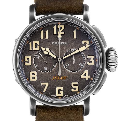 Zenith Heritage Pilot Type 20 Chronograph Mens Watch 11.2430.4069 Box Papers