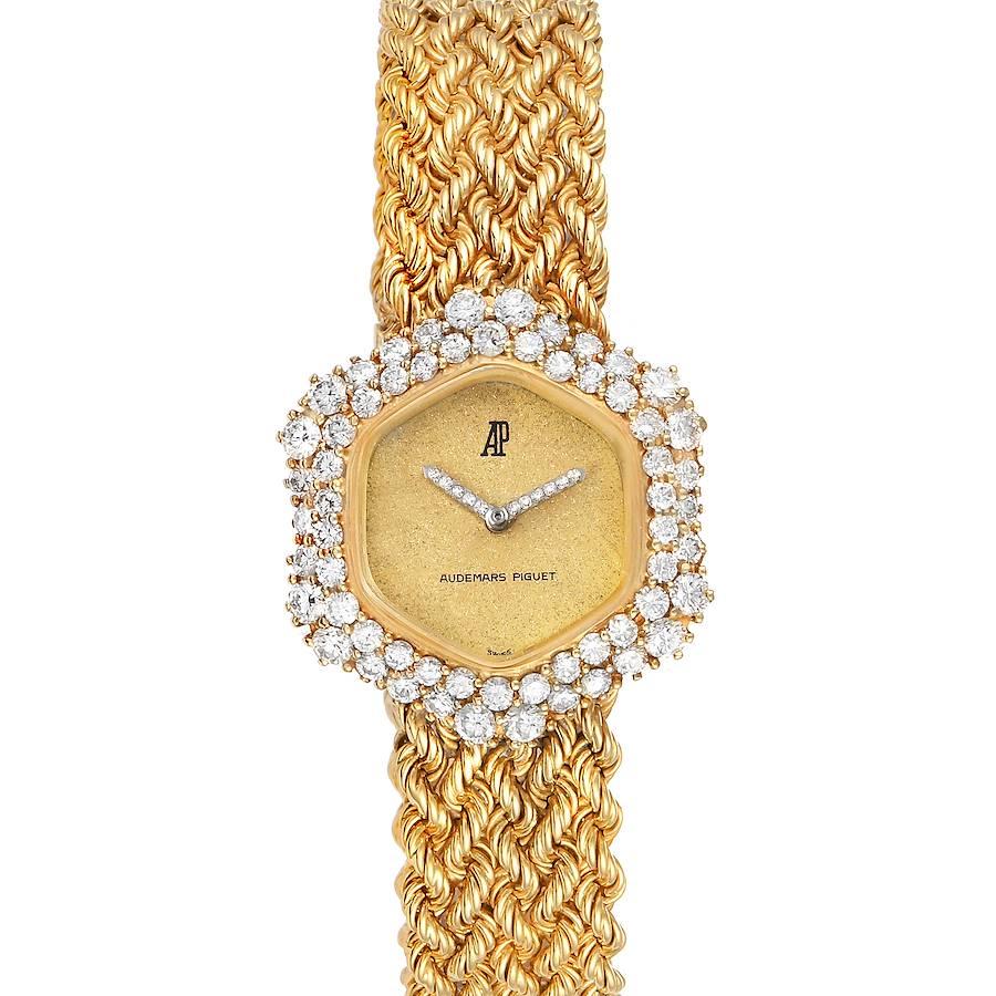 Audemars Piguet Vintage Yellow Gold Diamond Cocktail Ladies Watch SwissWatchExpo