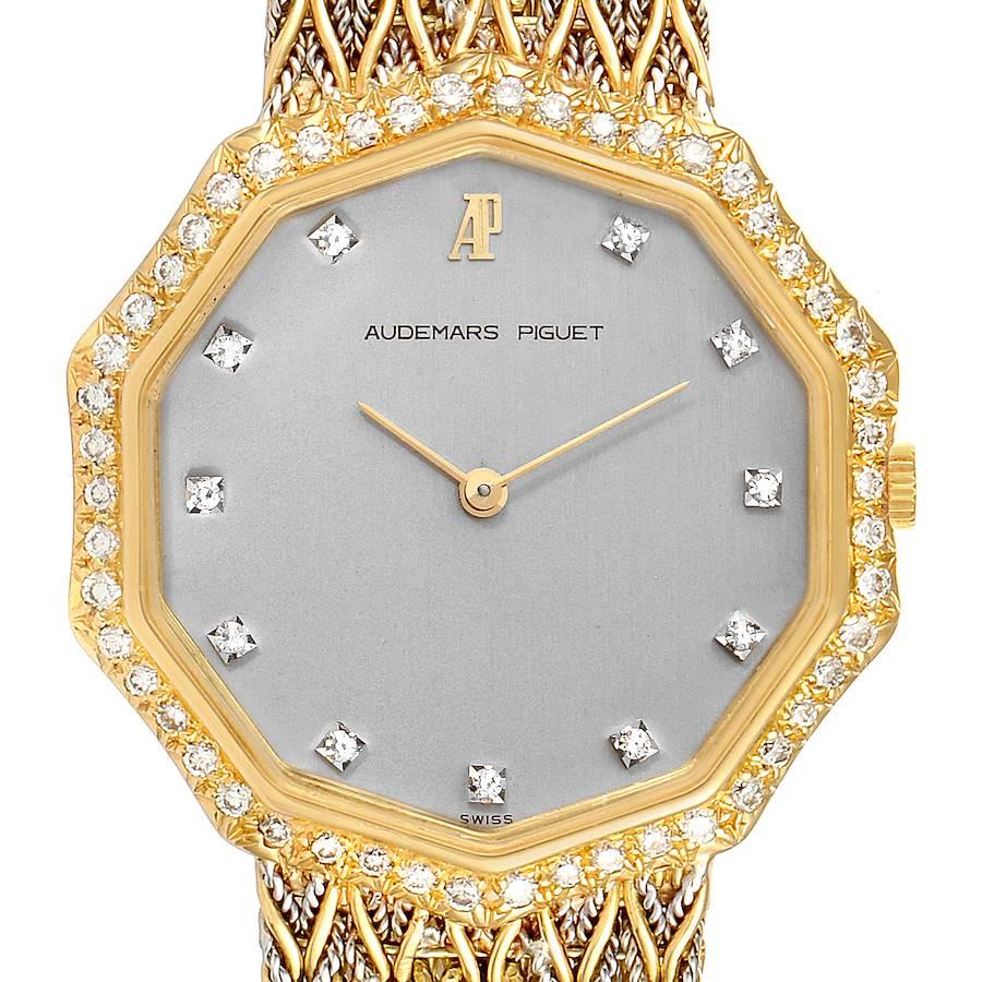 Audemars Piguet Vintage 18k Yellow Gold Diamond Ladies Watch 256731 SwissWatchExpo