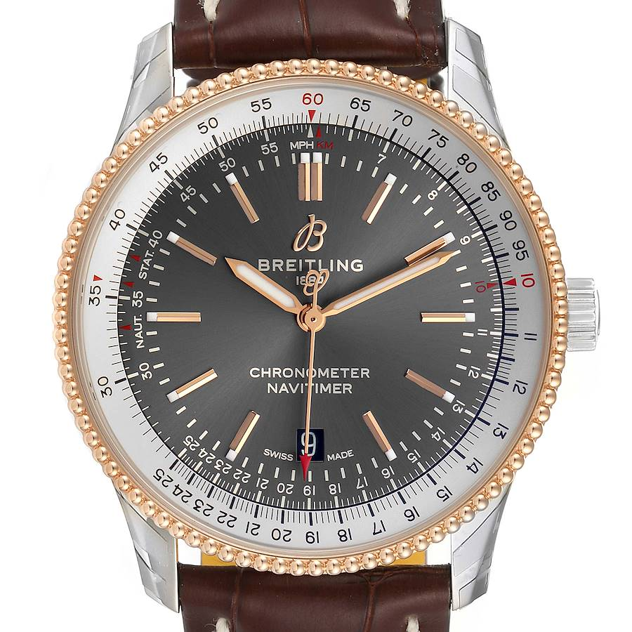 Breitling Navitimer 1 41mm Steel Rose Gold Mens Watch U17326 Unworn SwissWatchExpo