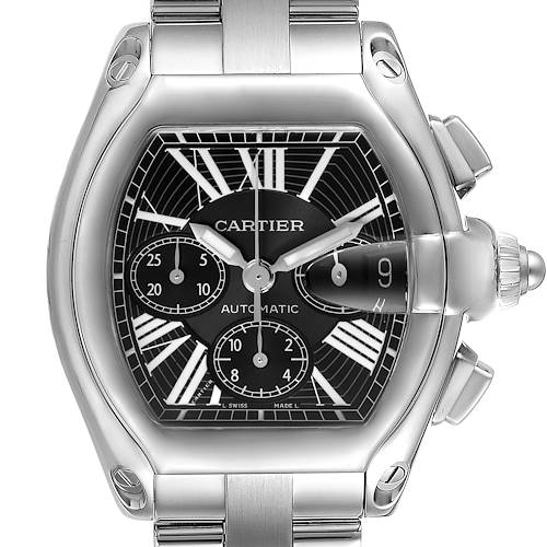 Photo of Cartier Roadster XL Chronograph Mens Watch W62020X6 Box Papers Strap