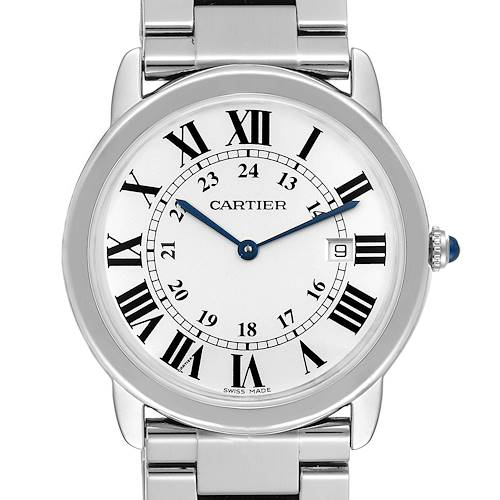 Cartier Ronde Solo Large Stainless Steel Mens Watch W6701005