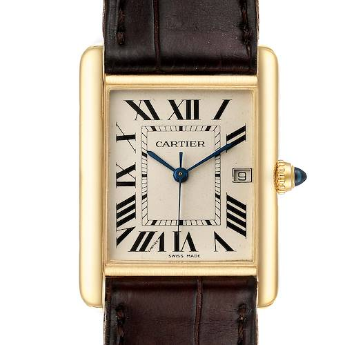 Photo of Cartier Tank Louis 18k Yellow Gold Deployant Buckle Mens Watch W1529756